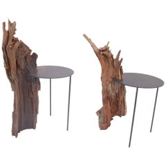 "Tomas Alonso pair of side table from the series ""Pierre and the Almond tree"""