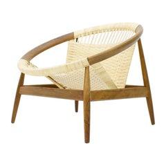Illum Wikkelso Ringstol Lounge Chair by Niels Eilersen Denmark, 1950s