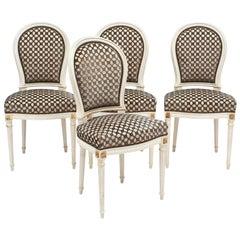 Louis XVI Style Set of Four Chairs