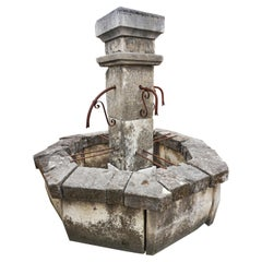 Antique Central Fountain, Four Spout, 19th Century