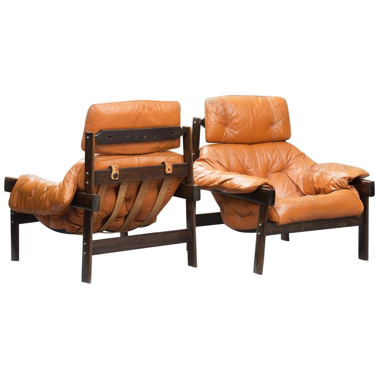 Percival Lafer mid-century modern rosewood lounge Chairs for Lafer, Brazil 1960s For Sale