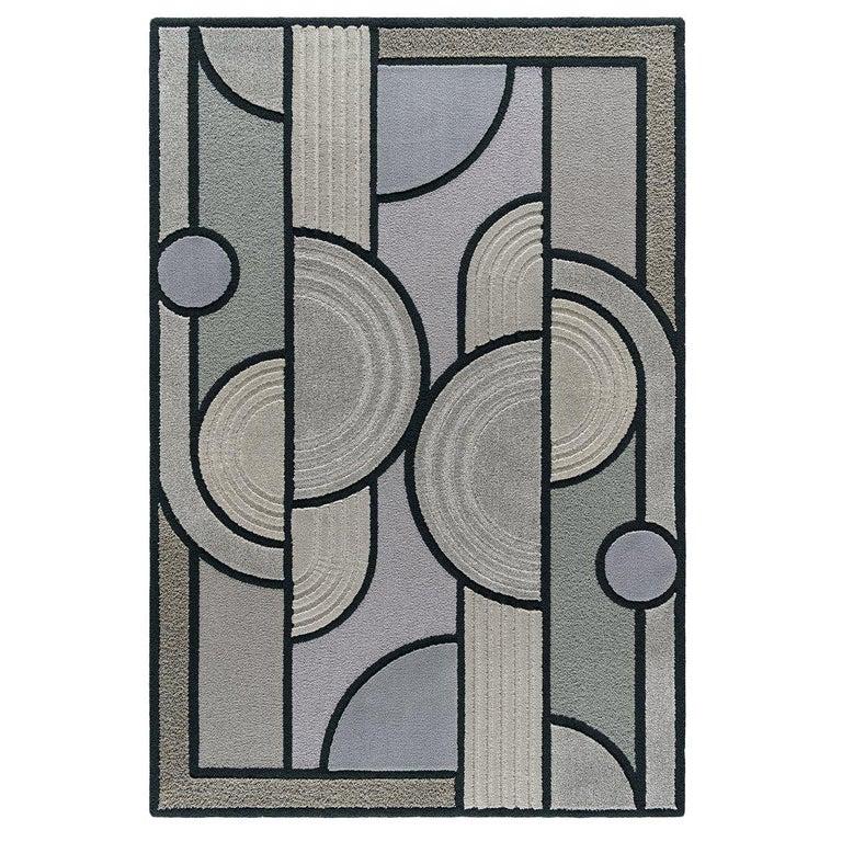 East of the Sun Rug, Grey Rectangular Wool Geometric, Lara Bohinc for Kasthall For Sale