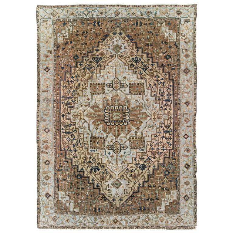 Antique Persian Heriz Carpet For Sale