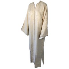Moroccan Caftan from North Africa, Morocco, Vintage Gold Kaftan, 1970