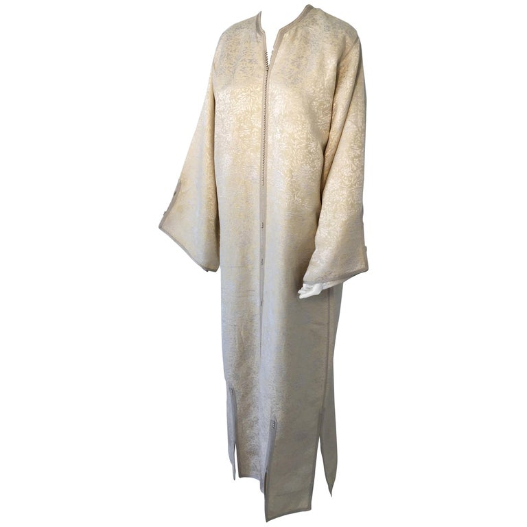 Moroccan Caftan from North Africa, Morocco, Vintage Gold Kaftan, 1970 For Sale