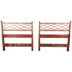 Pair of Baker Furniture Mid-Century Twin Headboards