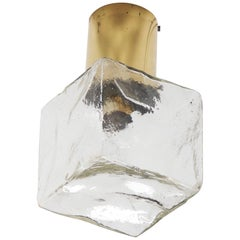 J.T. Kalmar Cube Flush Mount Lamp or Wall Mount, Sconces