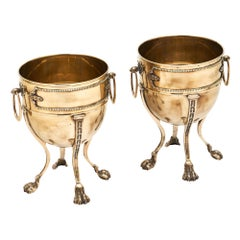 Empire Style French Brass Planters
