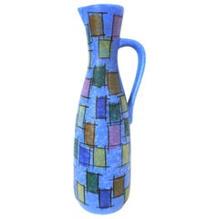 West German Modernist Ceramic Pitcher Jasba Keramik 221/35