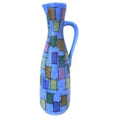 West German Modernist Ceramic Pitcher Jasba 221/35 Rare Design, Large