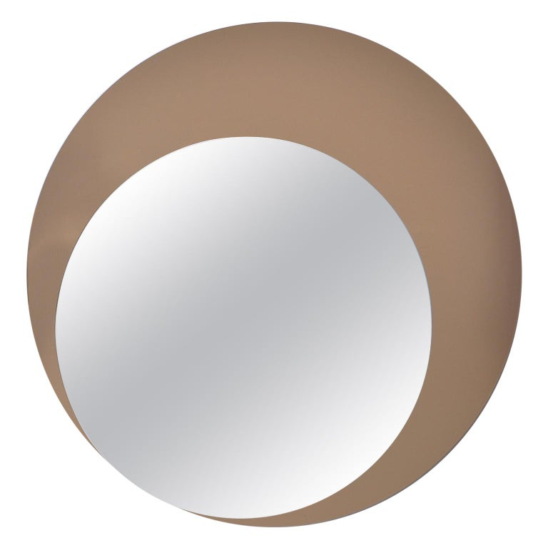 Italian Midcentury Circle Within Circle Mirror For Sale