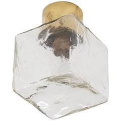 Rare J.T. Kalmar Cube Flush Mount Lamp or Wall Mount, Sconces