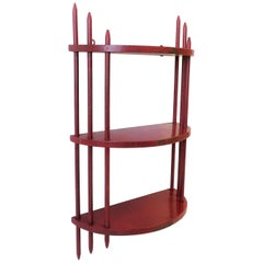 Red Art Deco Period Wall Shelf