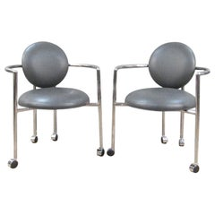 Pair of Moon Chairs by Stanley Jay Friedman for Brueton