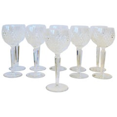 Set of 10 Vintage Waterford Crystal Wine or Water Goblet Glasses