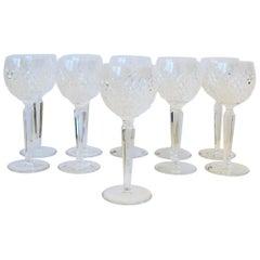 Vintage Waterford Crystal Wine or Water Goblet Glasses, Set of 10