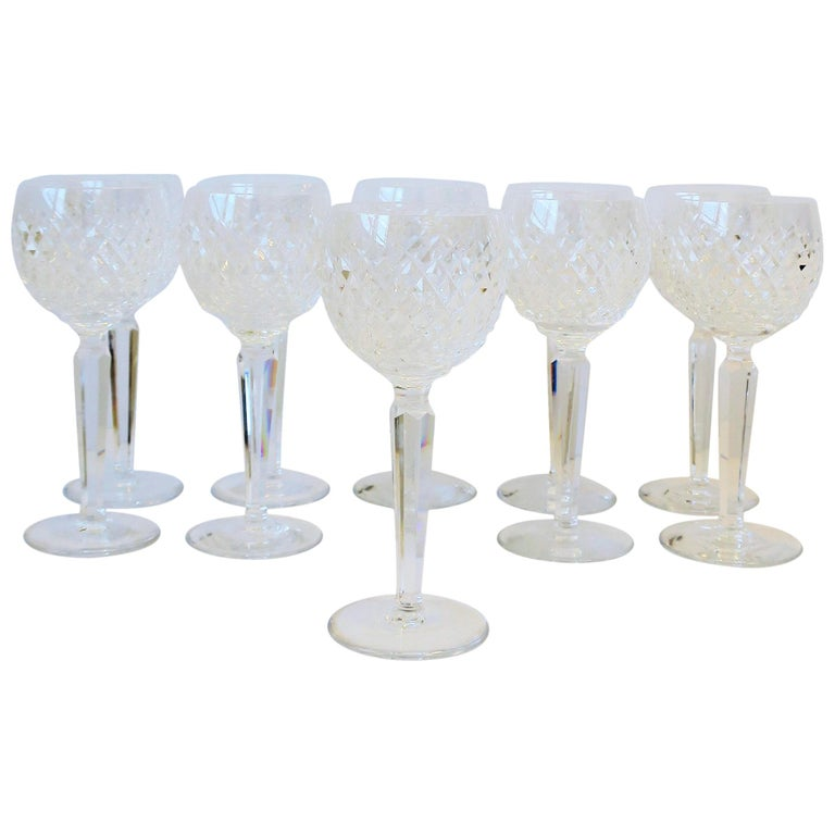 Vintage Waterford Crystal Wine or Water Goblet Glasses, Set of 10 For Sale