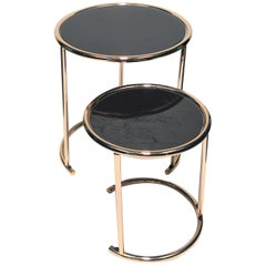 Set of 2 Round Nesting Side Tables