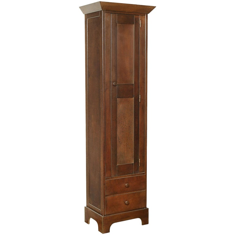 Jim Rose Legacy Collection - Tall Cabinet, Shaker Inspired Steel Cupboard For Sale