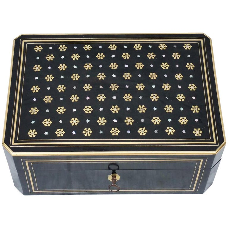 Napoleon III  Boulle Marquetry Jewelry Box, France 1865 For Sale