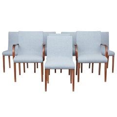 Set of 8 Scandinavian Teak Mid-20th Century Dining Chairs