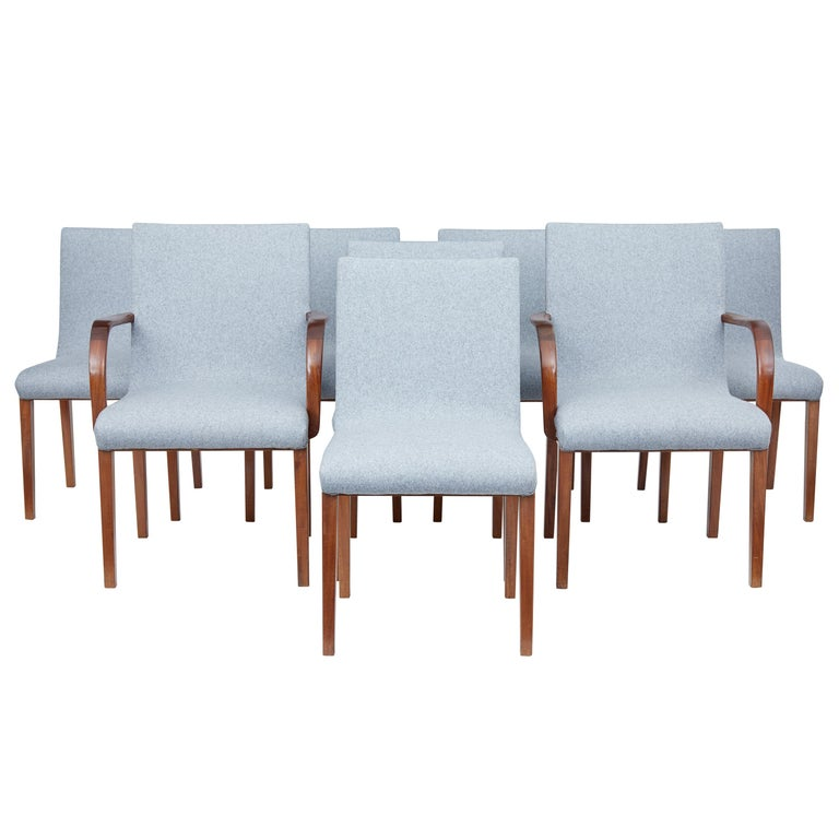Set of 8 Scandinavian Teak Mid-20th Century Dining Chairs For Sale
