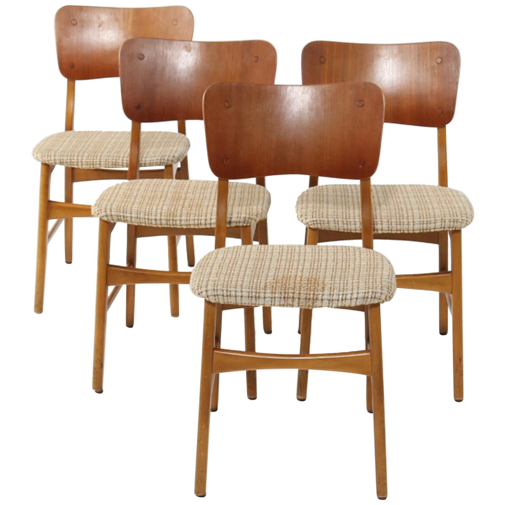 Set of Four Dining Chairs by Ib Kofod-Larsen for Christensen & Larsen
