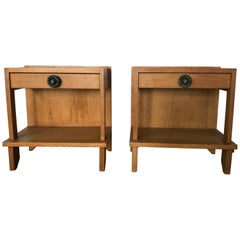 Pair of Nightstand by Guillerme et Chambron