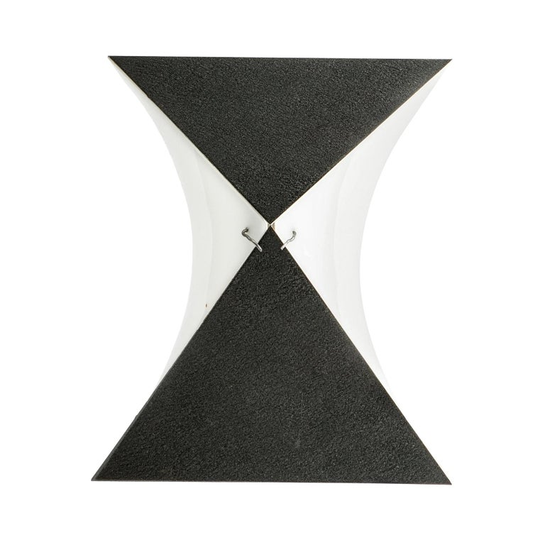 Single Black and White RAAK Sconce For Sale