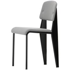 Vitra Standard SR Chair in Iron Grey and Deep Black by Jean Prouvé