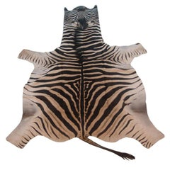 Vintage Zebra Skin Rug