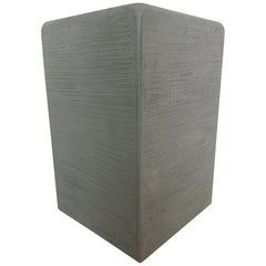 Green Gray Textured Plaster Wood Side Table, Seat