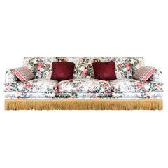 Vintage Waverly Down-Filled Hollywood Regency Wayside of Milford Custom Sofa