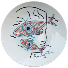 Cocteau Jean Limoges Porcelain Plate, Signed