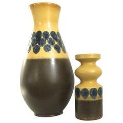 East German Modernist Rare Vintage VEB Haldensleben Ceramic Vases, 1970s