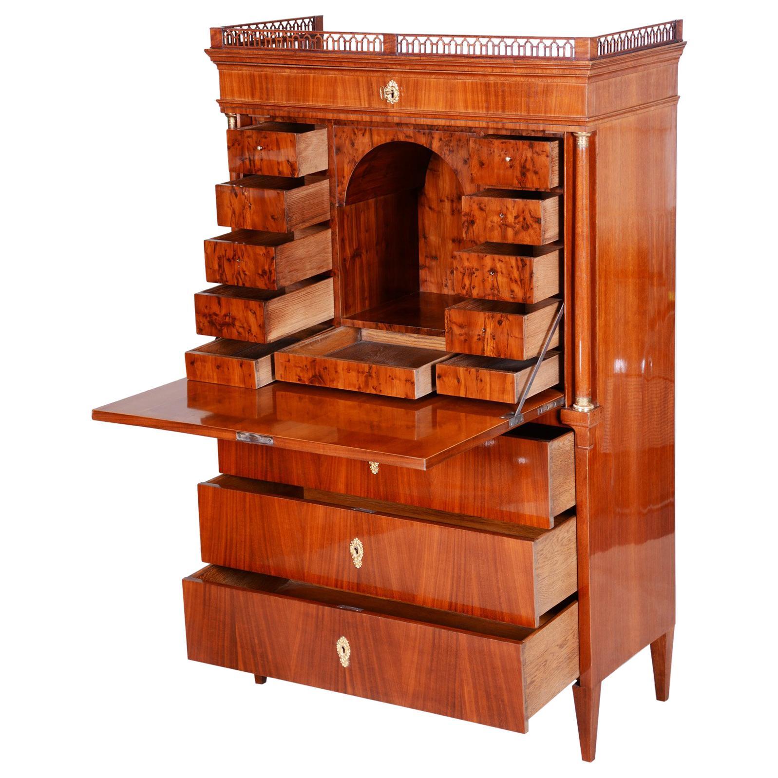 Unique Austrian Empire Secretary/Writing Desk, Material Mahogany, Wien 1820-1829