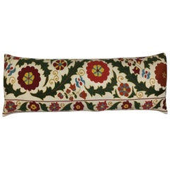 Hand Embroidered Silk Suzani Pillow