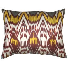 Large Silk Ikat Pillow