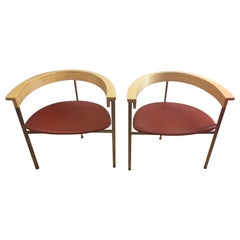 Pair of Poul Kjaerholm PK 11 Chairs, Stamped