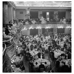 """Slim Aarons """"Luxury Dining"""" Estate Stamped Print"""