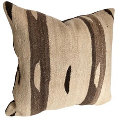 Custom Pillow designed by Maison Suzanne, cut from a  Wool Moroccan Ourika Rug