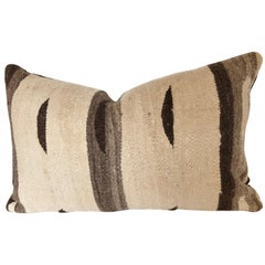 Custom Pillow by Maison Suzanne, Cut from a Moroccan Vintage Wool Ourika Rug