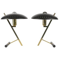 Pair of Louis Kalff Z Table Lamps for Philips, 1955