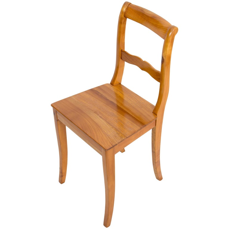 19th Century Biedermeier Cherrywood Chair For Sale