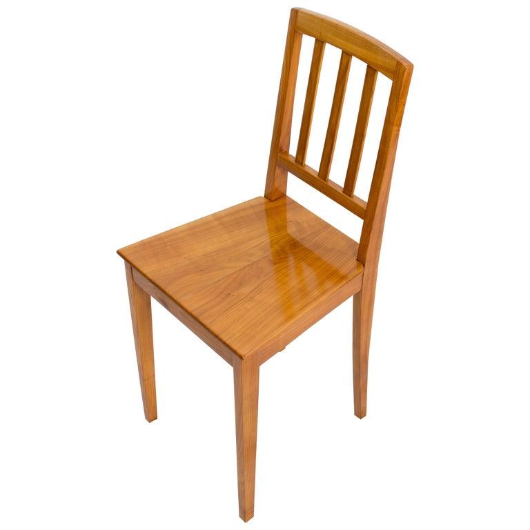 19th Century Biedermeier Cherrywood Chair For Sale