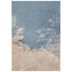 Blue Sky Contemporary Silk Rug