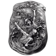 Fine Art Nouveau Sterling Silver Vesta Match Safe William Kerr, circa 1900