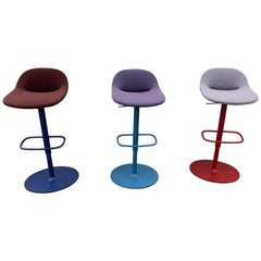 Artifort Set of Three Beso Adjustable Swivel Stools by Khodi Feiz