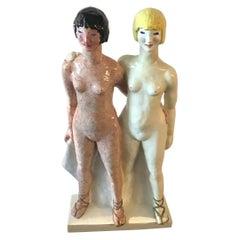 """Lenci """"Le Due Sorelle"""" 1929 Ceramic Gigi Chessa"""
