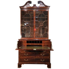 George III Mahogany Secretary, 18th Century, in the Manner of Henry Kettle
